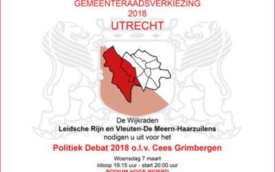 Politiek debat o.l.v. Cees Grimbergen