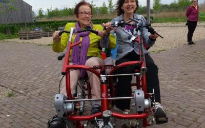 Elektrische duofiets voor de ouderen